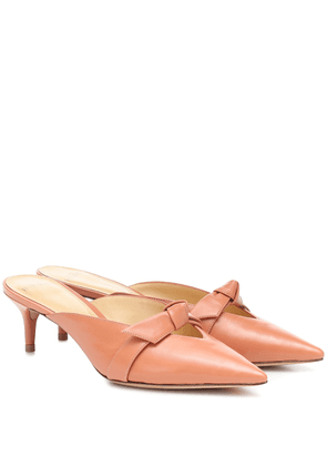 Clarita leather mules