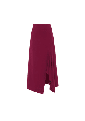 Whiteleaf stretch-crêpe midi skirt