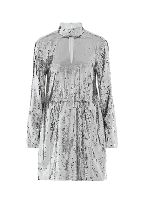 Avril sequined cotton-twill dress