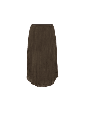 Pleated-crêpe skirt