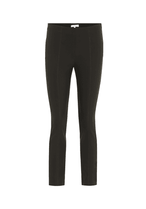 High-rise ponte-jersey skinny pants
