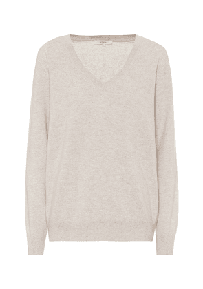 V-neck cashmere sweater