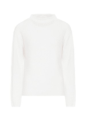 High-neck wool-blend sweater