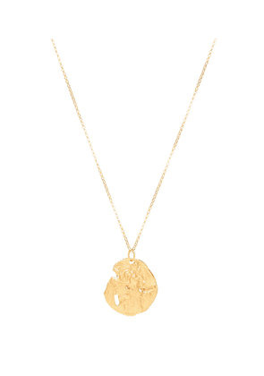 St. Christopher 24kt gold-plated necklace