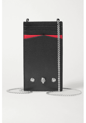 Alexander McQueen - Embellished Textured-leather Phone Case - Black