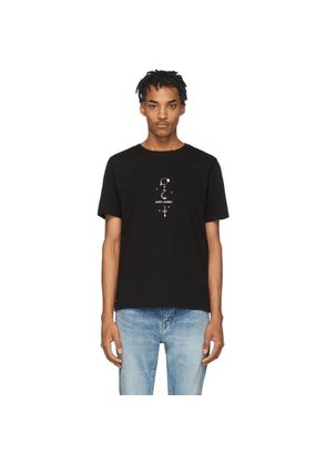 Saint Laurent Black Mystique Print T-Shirt