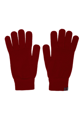 PS by Paul Smith Red Wool Gloves