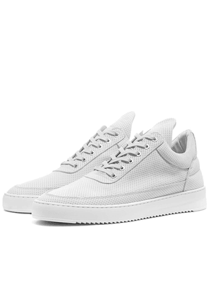 Filling Pieces Low Ripple Nubuck Perforated Sneaker