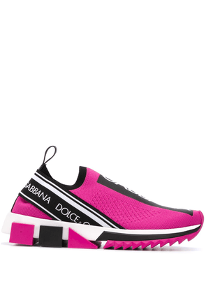 Dolce & Gabbana Sorrento stretch-mesh sneakers - PINK