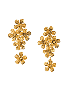Jennifer Behr flower earrings - GOLD