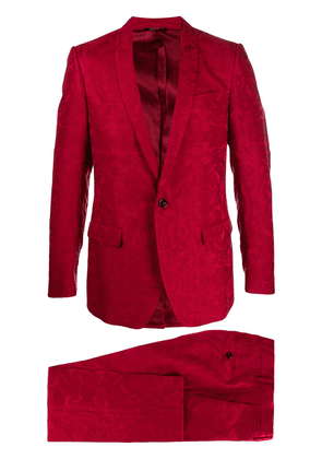 Dolce & Gabbana baroque-print single-breasted suit - R3484 RED