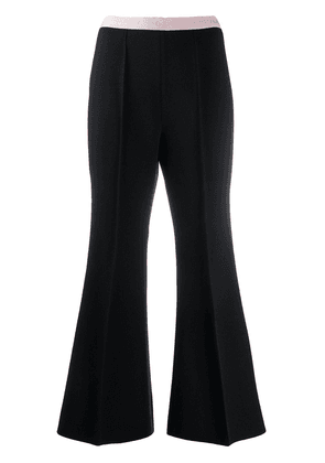Gucci flared cropped trousers - Black