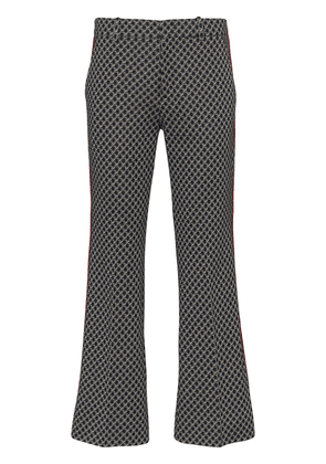 Gucci GG-print cropped flared trousers - Blue