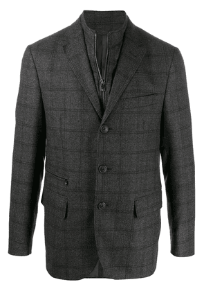 Corneliani checked fitted blazer - Grey