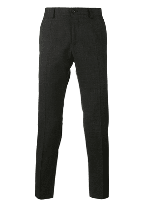 Dolce & Gabbana Wool Blend Tailored Trousers - Grey