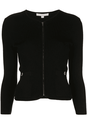 Jonathan Simkhai ribbed fitted cardigan - Black