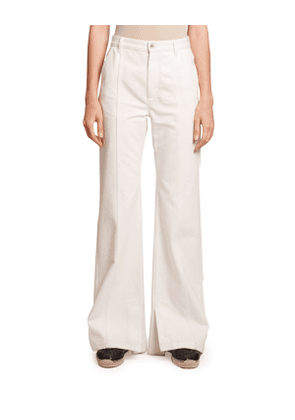 High-Rise Seamed Flare Jeans