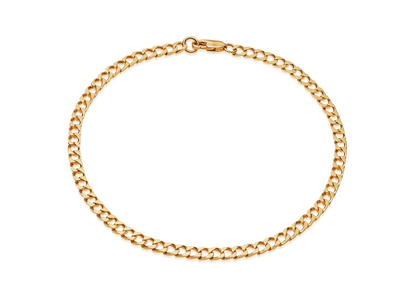 Lucy Williams Gold Flat Curb Chain Anklet