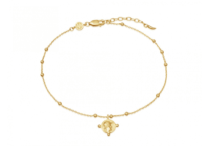 Lucy Williams Gold Beaded Coin Anklet