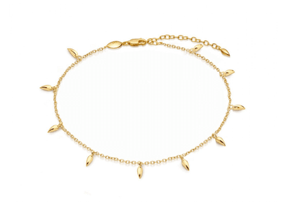 Lucy Williams Gold Mini Fang Anklet