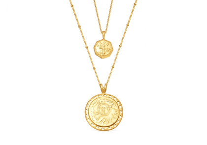 Gold Ode to Rome Necklace Set