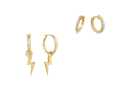 Gold Stormy Night Stack Earring Set
