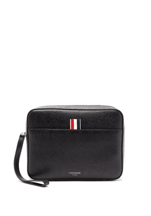 Thom Browne - Grained-leather Wash Bag - Mens - Black