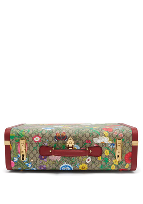Gucci - GG Flora Coated Canvas And Leather Suitcase - Womens - Multi