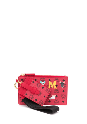 MCM monogram pouch - Red