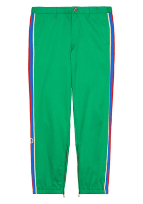 Gucci logo tape cropped trousers - Green