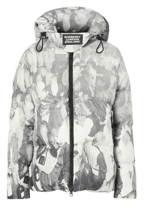 Burberry rave print puffer jacket - Grey