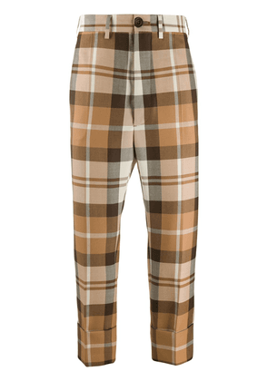 Vivienne Westwood George checked cropped trousers - NEUTRALS