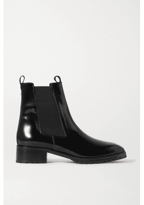 aeyde - Karlo Patent-leather Chelsea Boots - Black