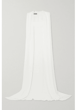 Alex Perry - Vance Cape-effect Crepe Gown - White