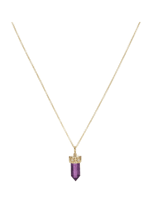 14kt gold, amethyst and diamond necklace