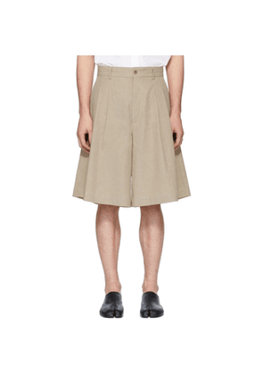 Maison Margiela Beige Linen Cloth Shorts