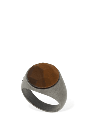 Tiger Eye Stone Thick Pinky Ring