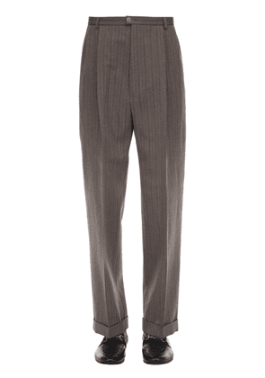 Rough Bicolor Stripe Wool Blend Pants