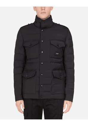 Dolce & Gabbana Jackets and Bombers - QUILTED JACKET WITH LOGOED PLAQUE MULTICOLORED