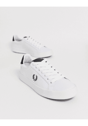 Fred Perry b721 vulc leather trainers-White