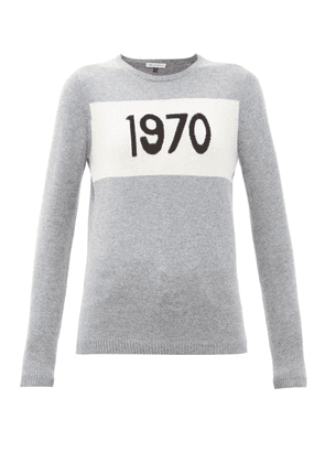 Bella Freud - 1970-intarsia Cashmere Sweater - Womens - Grey