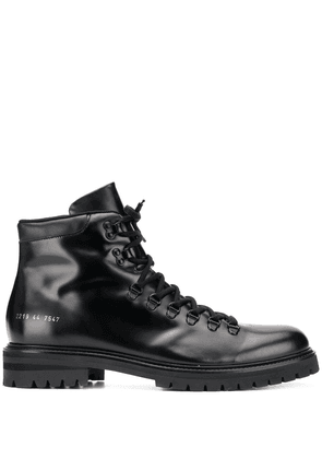 Common Projects polished hiking boots - Black