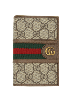 Gucci Beige and Brown Ophidia Passport Holder