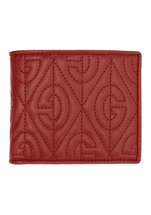 Gucci Red Quilted GG Wallet