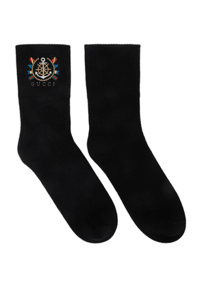 Gucci Black Band Socks