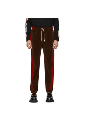Gucci Brown Chenille Track Pants