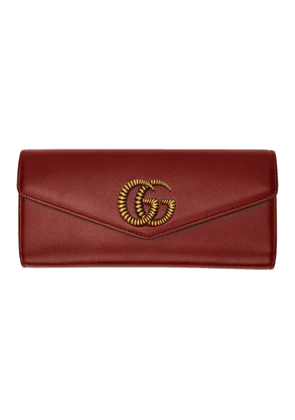Gucci Red Broadway Clutch
