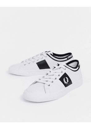 Fred Perry underspin logo cuff leather trainers-White