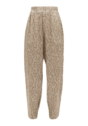 Edward Crutchley - Snake-print Silk Trousers - Womens - Beige Multi