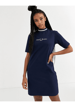 Fred Perry high neck dress-Black